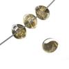 Lamp Bead Teardrop Mini 25pcs 7mm Speckled Olive